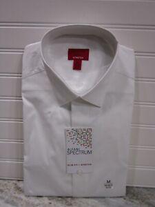 Alfani Spectrum Mens Slim Fit Stretch White Long Sleeve Shirt Size M NWT