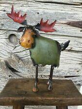 Repurposed Scrap Art Metal Moose Small 8