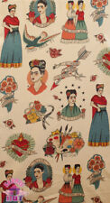 Alexander Henry Todo Para Frida Kahlo Class Tattoo Cotton Fabric
