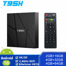 T95H Smart TV Box Android 10.0 Quad Core 2.4GHz 6K HD 3D WI-FI MEDIA PLAYER T95