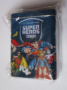 Boite en fer collector match / Super héros - league justice