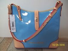 Dooney & Bourke Claremont Denim Blue Hobo Patent Leather $248.00 NWT