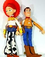 """Toy Story Woody & Jessie Pull String Talking 15"""" Toy Doll Rare"""