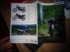 ancien dépliant Catalogue Ancienne Moto YAMAHA  XT600E