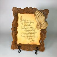 "Vintage framed Lord's prayer  13"" x 10"""