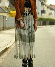 ZARA TIE DYE FLOWING LONG SKIRT WITH SLITS BATIKROCK MAXIROCK BATIK ROCK SIZE M