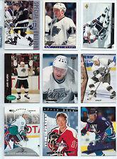 Jari Kurri hockey card lot (18); All Los Angeles Kings cards from 1990s Finland
