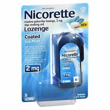 Nicorette Nicotine Polacrilex Lozenges Coated Ice Mint
