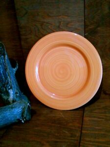 """Hand Painted Serving Platter Cake Plate Yellow Swirl 12"""" Made in Italy Pier1"""