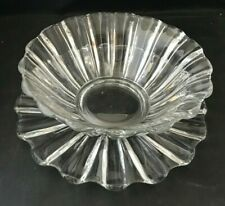 "Glass Bowl 11"" With Platter 12"""