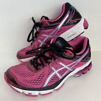 ASICS Women's GT-1000 Pink/Black Trainers Running Gym Shoes US 8 EU 39.5 UK 6.5