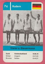 German Trade Card 1968 Olympics Coxless Fours 4s Gold Medal Winner Germany
