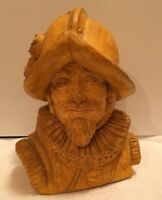 Antique Spanish Conquistador Clay Statue/ All In Great Hand Carved Detail.