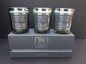 Flame Homeware Medieval Winter Triple Scented Candles Bougie Parfumee
