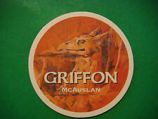 Beer Bar Coaster ~*~ McAuslan Griffon Extra Pale Ale ~*~ Quebec, CANADA Brewery