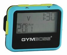 GYMBOSS INTERVAL TIMER AND STOPWATCH LIGHT BLUE / YELLOW SOFTCOAT FR GYMBOSS HQ