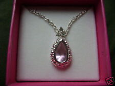 "accents 19"" end to end 2005 Avon Pear Shaped Necklace w/rhinestone"