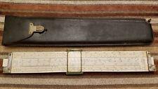 Vintage Eugene Dietzgen Decimal Trig Type Log Slide Rule 1733 With Leather Case