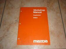 MAZDA B1800 WORKSHOP MANUAL SUPPLEMENT manuel atelier revue 1980 Anglais