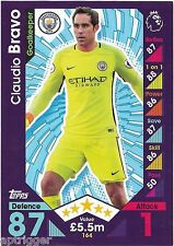2016 / 2017 EPL Match Attax Base Card (164) Claudio BRAVO Manchester City