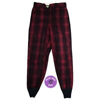Vintage Woolrich Red Black Plaid Wool Pants Size 32 1993 Thick Warm Quite