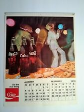 NOS 1970 It's the Real Thing Enjoy Coca-Cola Coke Full Calendar 70s Unused!