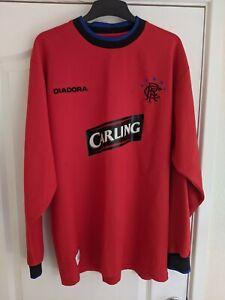 Retro Glasgow Rangers Long Sleeved Shirt