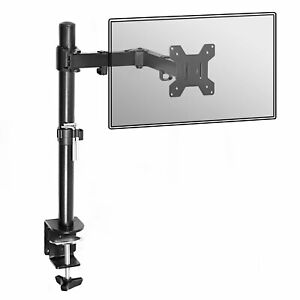 Fully Adjustable Single Arm Monitor Mount Desk Stand Bracket with Clamp M&W