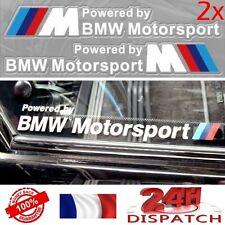 2x Sticker POWERED BY BMW MOTORSPORT 20x3cm BLANC2x Sticker POWERED BY BMW MOTOR