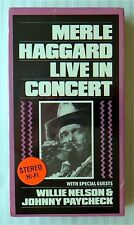 Merle Haggard Live In Concert ~ New Sealed VHS ~ Rare Country Music Movie Video