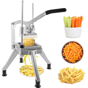 Coupe-Frites Machine Lame 1/2 po INOX Pieds Antidérapants Fruits Trancheuse