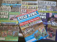 11 ISSUES CYCLE NEWS 1994 McGRATH CR KX YZ RM KTM HUSKY VINTAGE MX MOTOCROSS