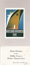 US HOLLAND AMERICA LINE OVERSIZED COLOUR POSTCARD