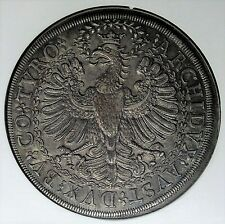 Austria Hall 1680-1686 Leopold Hogmouth Silver Double 2 Thaler NGC MS62