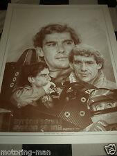 AYRTON Senna la legenda firmato Craig Warwick stampa MCLAREN LOTUS LIMITED EDITION