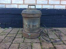 Vintage Large Brass And Metal Heavy Ships Lantern Light
