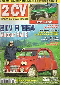 2CV MAGAZINE 78 CITROEN 2CV A 1954 KATAR 4X4 1988 24H DE SPA 2CV RACING CUP
