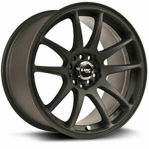 One (1) 17x8 RTX R-Spec Stag ET 35 Black 5x100 5x114.3 Wheel Rim
