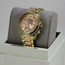 NEW AUTHENTIC MICHAEL KORS BLAIR ROSE GOLD CHRONOGRAPH WOMEN'S MK6316 WATCH