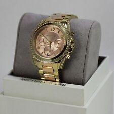 NEW AUTHENTIC MICHAEL KORS BLAIR ROSE GOLD CHRONOGRAPH WOMEN'S MK6316 WATCH