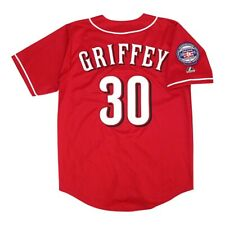Ken Griffey Jr. Cincinnati Reds Alt Red Jersey w/ HOF 2016 Patch Men's XL