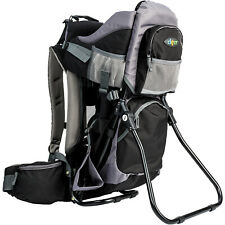 Clevr Outdoor Baby Kid Toddler Light Backpack Camping Hiking Child Carrier Black