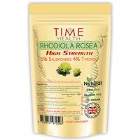 Rhodiola Rosea Capsules Extract 5% Salidrosides 4% Tyrosol Vegan Pure Strength