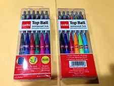 24 Cello Color PENS  Retractable ballpoint pen Textured Grip 1.0mm Advanced ink