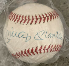 Mickey Mantle autographed Rawlings Baseball