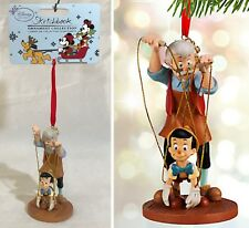New - GEPPETTO & PINOCCHIO with Puppet Strings - DISNEY SKETCHBOOK ORNAMENT 2015