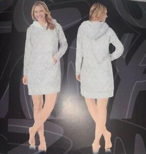 Disney Women's Fleece Lounger Robe With Sherpa  - Gray - LARGE