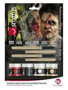 Horror Zombie Liquid Latex Kit Special FX Horror Halloween Make Up Fancy Dress