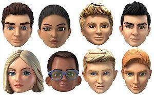 Thunderbirds Are Go Auswahl 8 Packung 2D Karte Gesichtsmasken - Party Event