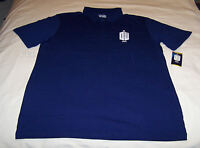 Doctor Who Smith 11 Mens Navy Blue Printed Short Sleeve Polo Shirt Size L New